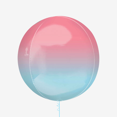 Ombre Pastel Pink and Blue Orbz Balloon