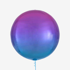 Ombre Pink, Purple & Blue Orbz Balloon