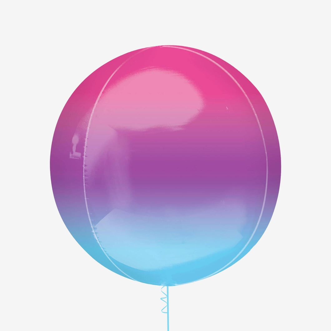 Ombre Purple, blue and pink orbs balloon
