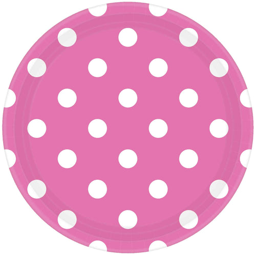 Pink Dots Paper Plates (8 pack)
