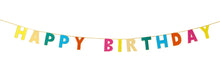 Rainbow Happy Birthday Banner