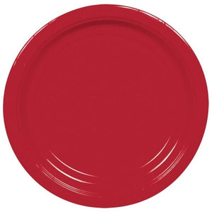 Apple Red Paper Plates (8 pack)
