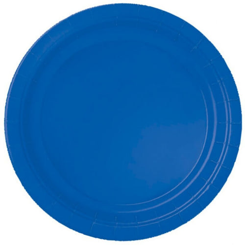 Royal Blue Paper Plates (8 pack)
