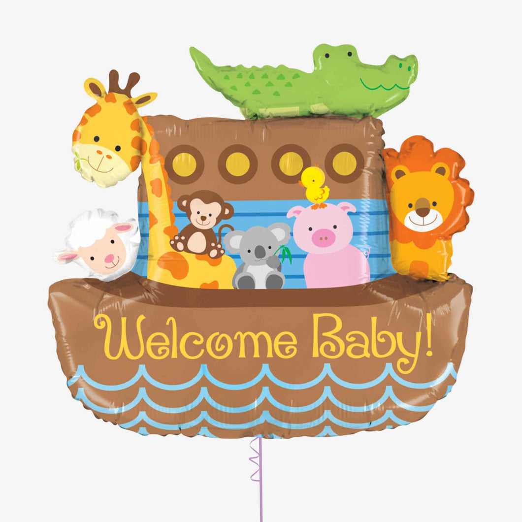 Shape Noah's Ark Welcome Baby Foil Balloon
