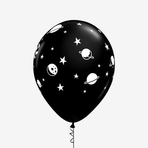 Space Themed Latex Balloons black