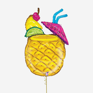 Tropical Pineapple Drink Foil Balloon