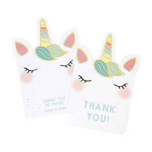 We Heart Unicorn Thank You Cards