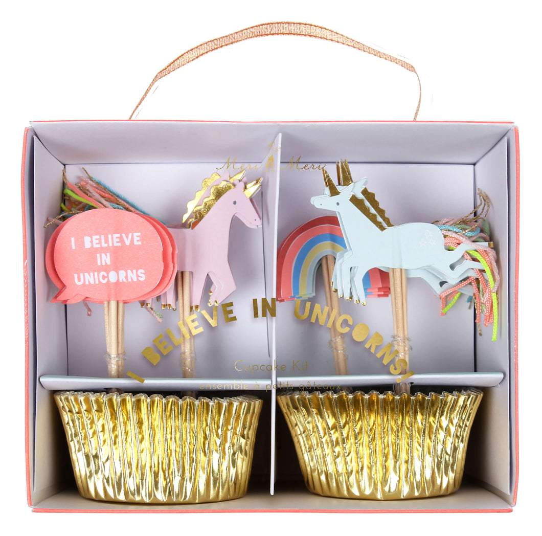 I Believe In Unicorns Cupcake Kit - Meri Meri