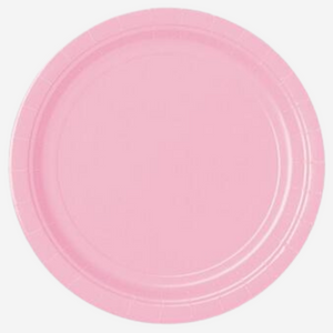 Pastel Pink Paper Plates (8 pack)
