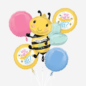What Will It Bee Foil Balloon Bouquets