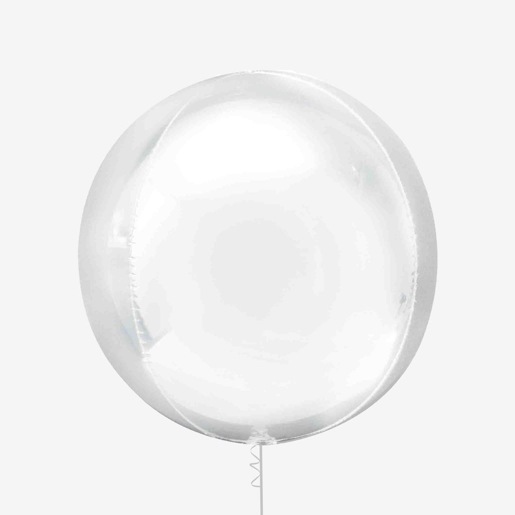 White Orbz Balloon