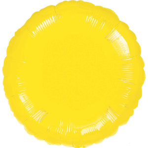 Yellow Circle Foil Balloon