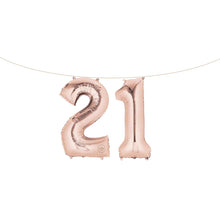 "Air Filled 16"" Rose Gold Number Balloons"
