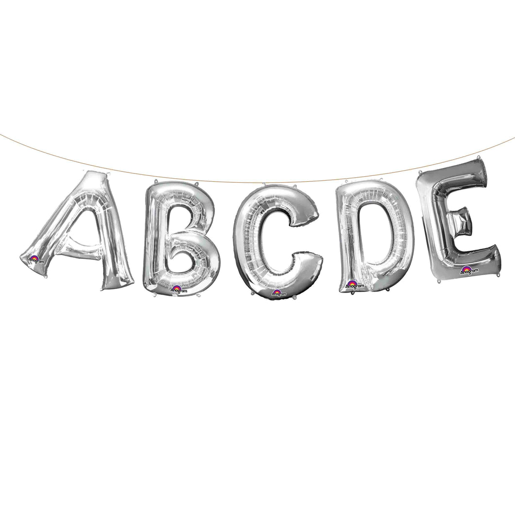 Air Filled Silver Letter Balloons 16