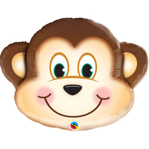 Mischievous Monkey Foil Balloon