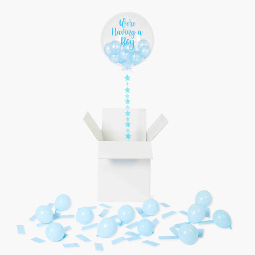 It's a Boy Bubble Balloon in a Box