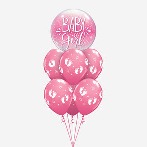 Baby Girl Pink Balloon Bouquet