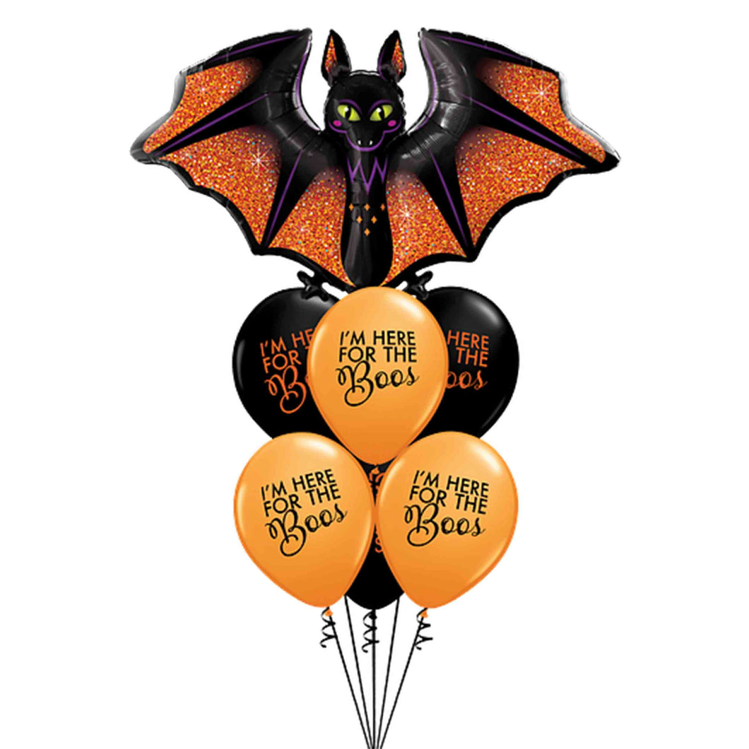Halloween Bat I'm here for the Boos Balloon Bouquet