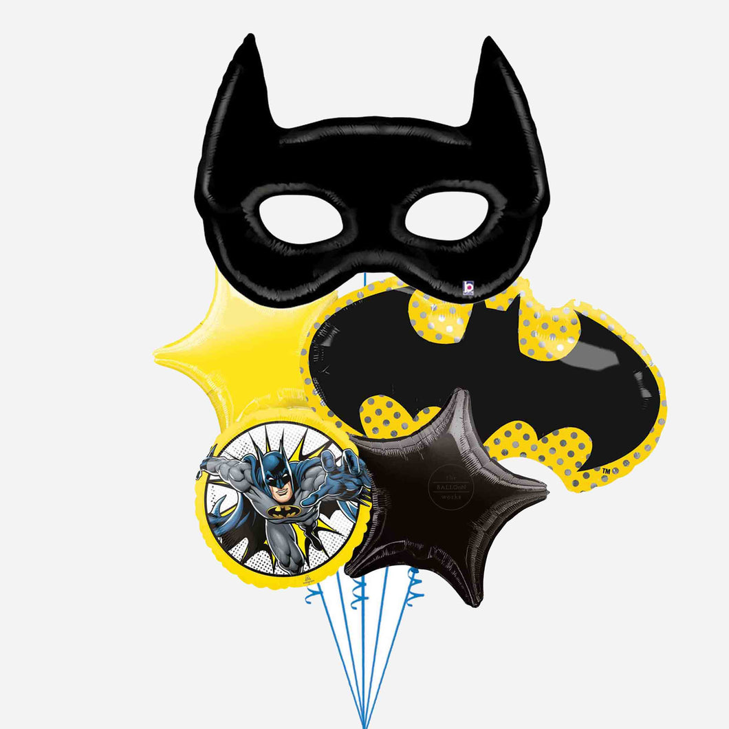 Batman Mask Balloon Bouquet