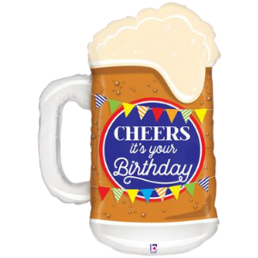 Shape Cheers Birthday Beer