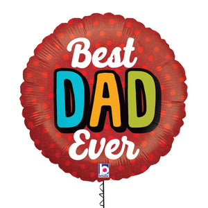 Best Dad Ever Foil Balloon