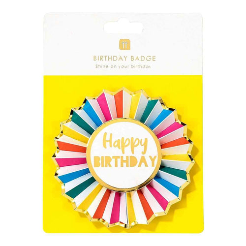 Rainbow Happy Birthday Badge