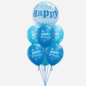Birthday Blue Bubble Balloon Bouquet