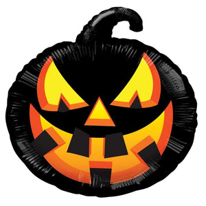 "Black Pumpkin 18"" Foil Balloon"