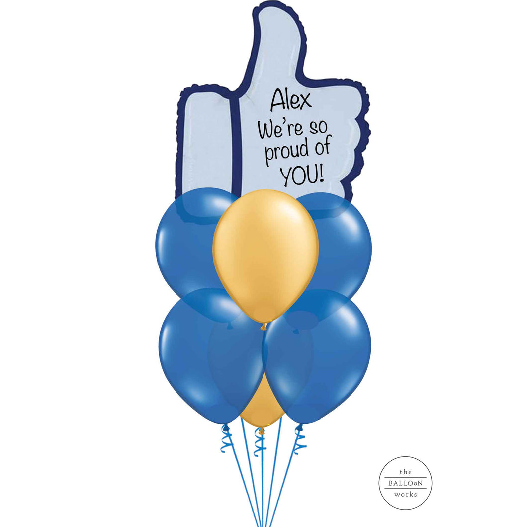 Personalised Congratulations Thumbs Up Bouquet