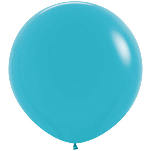 Caribbean Blue Giant 3ft Latex Balloon