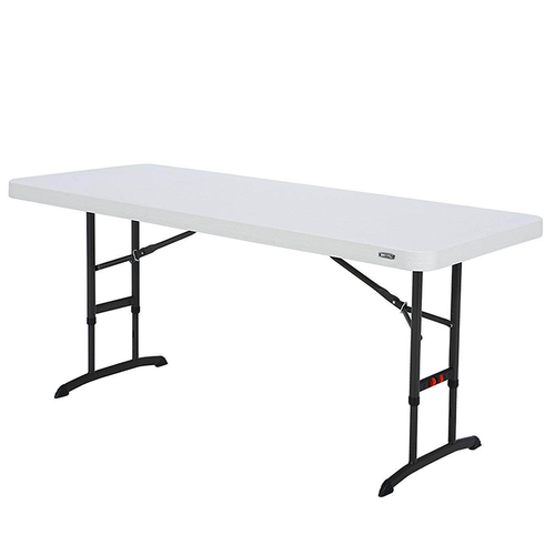 Children's White Long Table - 6ft