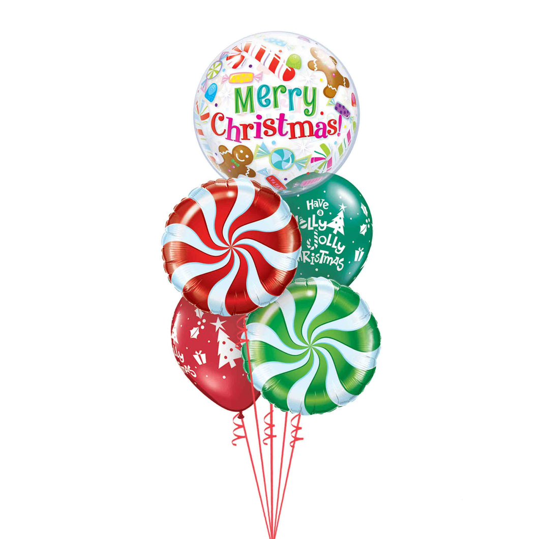 Christmas Bubble Balloon Bouquet