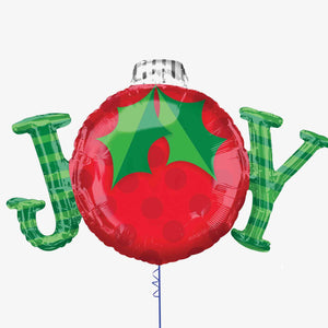 Christmas Joy Supershape Foil Balloon