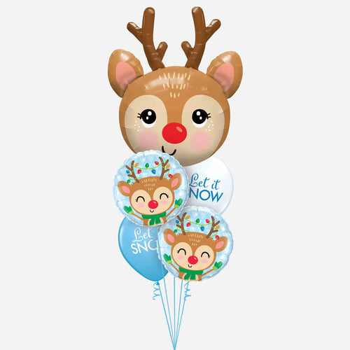 Dashing Through the Snow Reindeer Balloon Bouquet