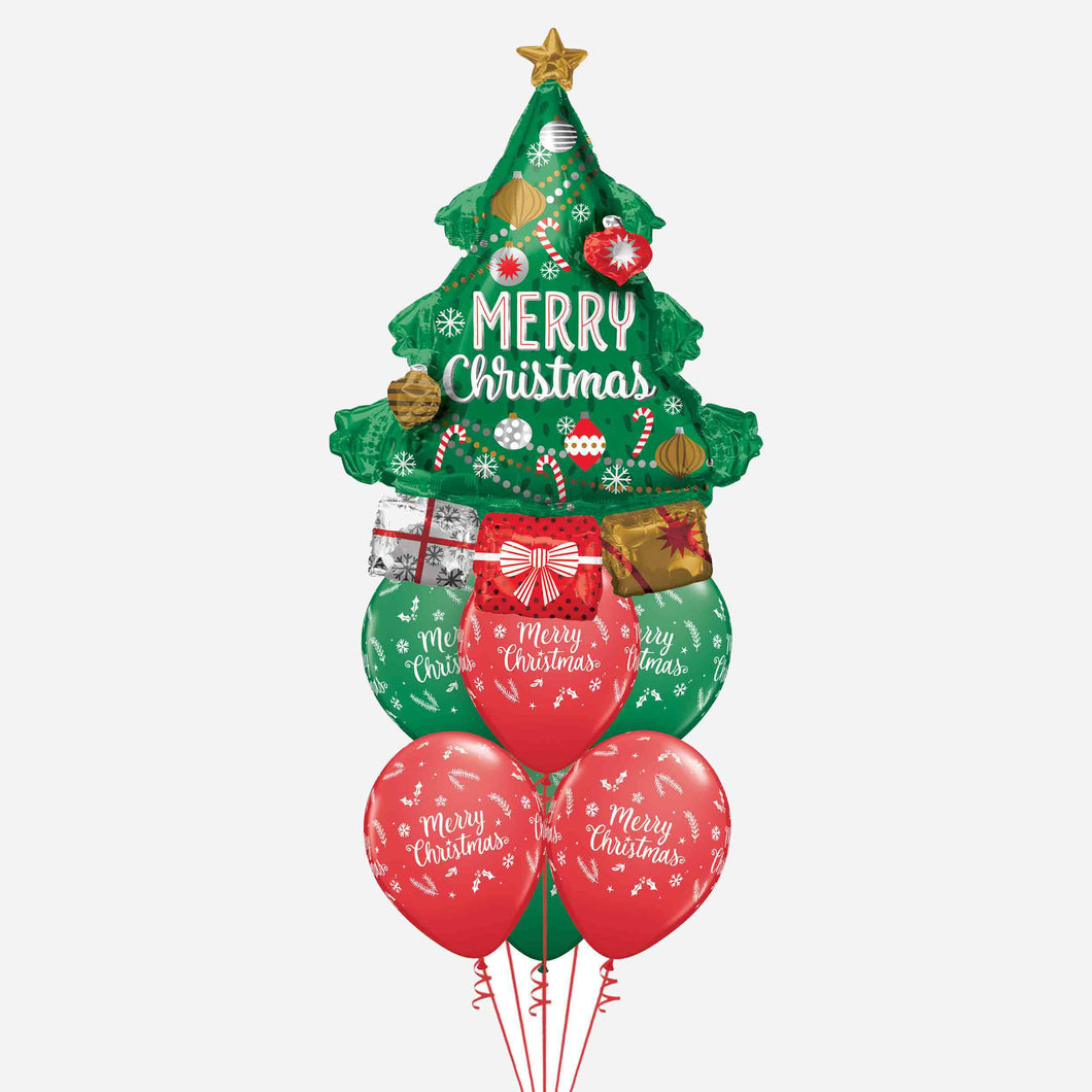Christmas Tree Balloon Bouquet
