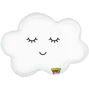 mighty sleepy cloud foil helium shaped balloon