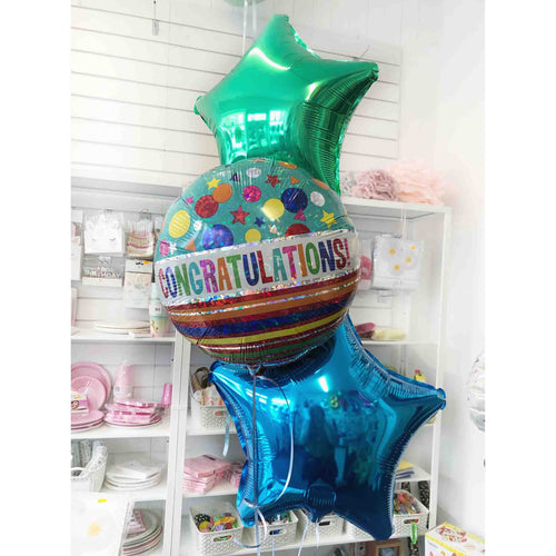 Congratulations Stars Balloon Bouquet
