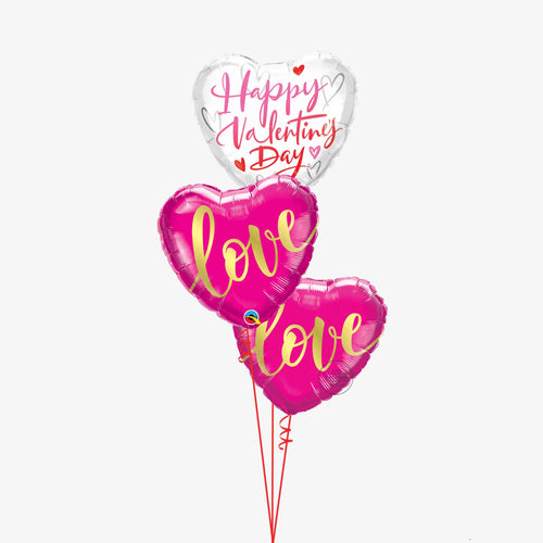 Valentines Love Balloon Bouquet