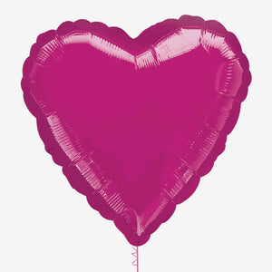 Fuchsia Heart Foil Balloon