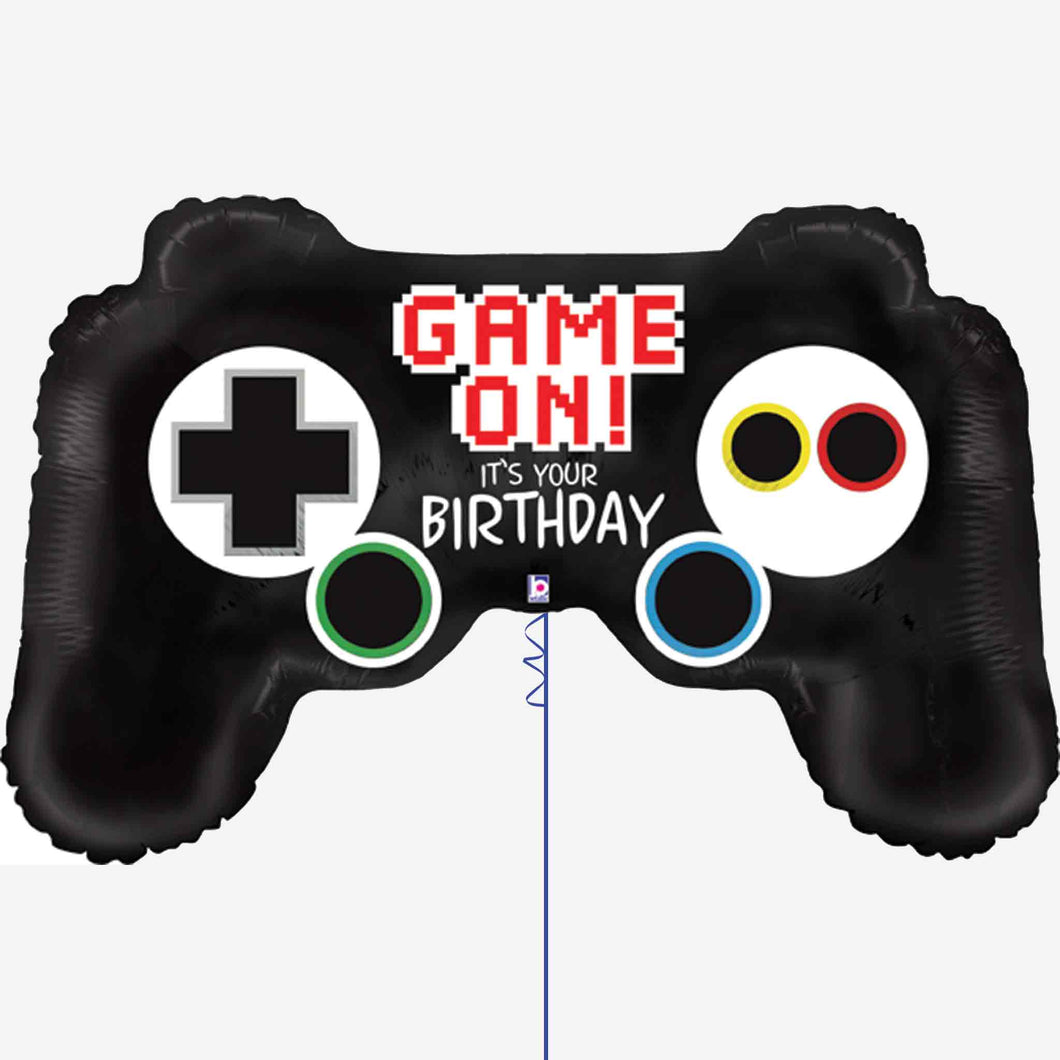 Game on Controller Birthday Foil Balloon