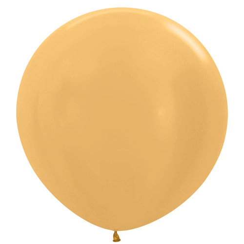 Gold giant 3ft latex balloon