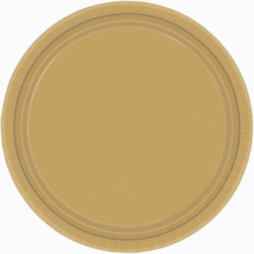 Gold Paper Plates (8 pack)