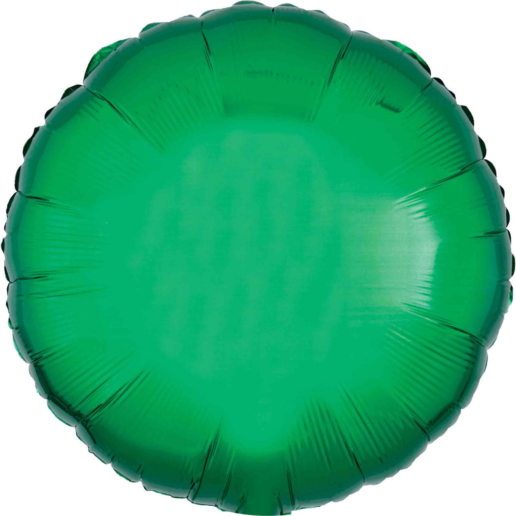 Green Circle Foil Balloon