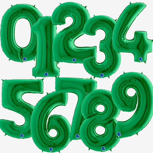 Green Foil Number Balloons 40
