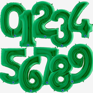 Green Foil Number Balloons 40""