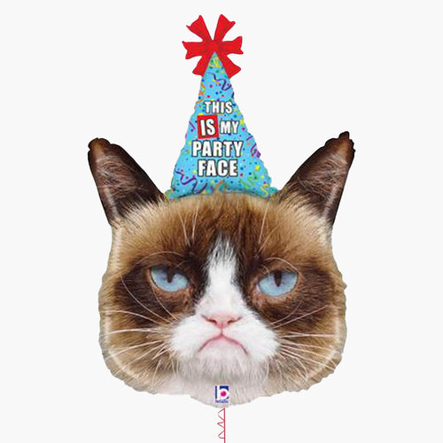 Grumpy Cat Party Face Foil Balloon