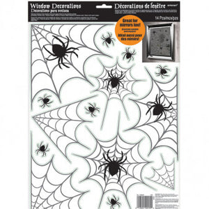 Vinyl Spider Web Window Decorations