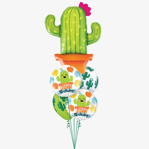 Happy Cactus Birthday Balloon Bouquet