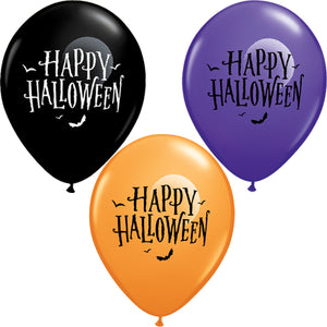 "11"" Latex Happy Halloween Balloon"