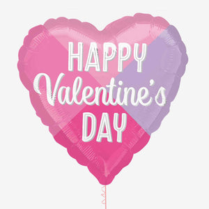 Happy Valentines Colour Block Foil Balloon